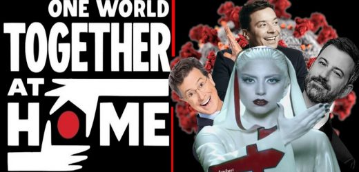 Jimmy Fallon, Jimmy Kimmel และ Stephen Colbert ในคอนเสิร์ตสู้ Covid One World: Together at Home